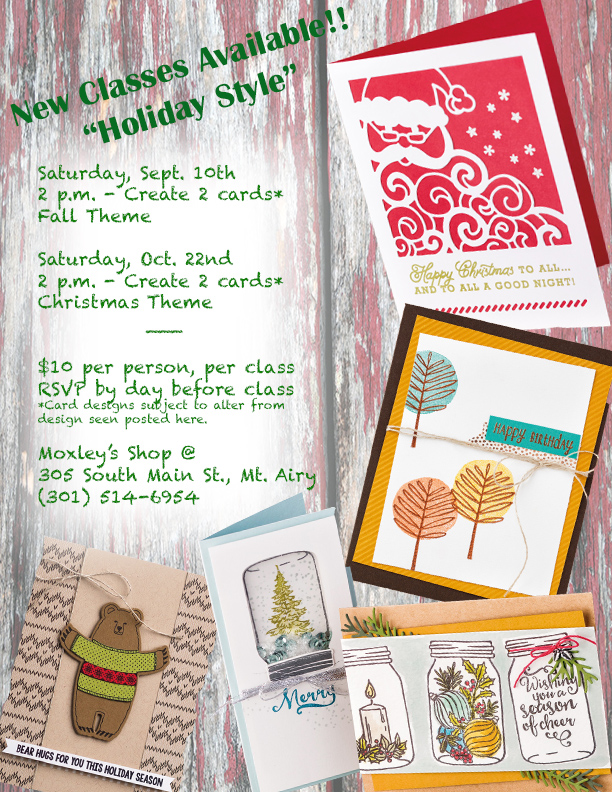 Holiday Flyer Classes